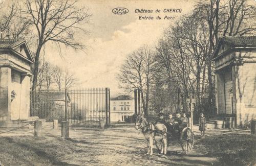 CHERCQ - Château de Chercq - Édit. Vve Eeckhout Decarpentrie - Oblitération 11 5 1912 - Coordonnées GPS • Nord : 50 35 19 • Est : 3 25 00