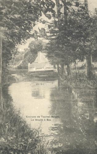 ERE - Moulin de Barges - Phono-Photo, Tournai - Oblitération 18 7 1911 - Coordonnées GPS • Nord : 50 35 09 • Est : 3 22 51