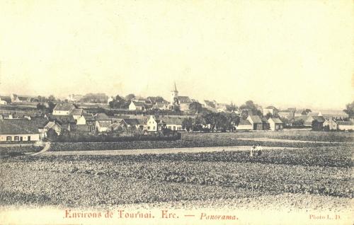 ERE - Panorama - Photo L. D. - Oblitération 5 1 1914 - Coordonnées GPS • Nord : 50 34 53 • Est : 3 22 26