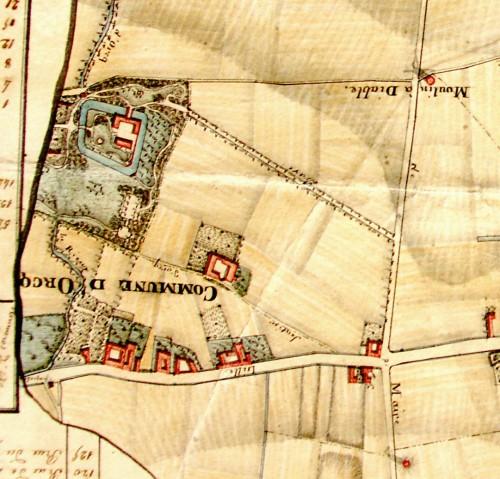 Extrait du plan de la ville de Tournai par Carlez et Gaudy 1829 (Archives de l'Etat à Tournai)
