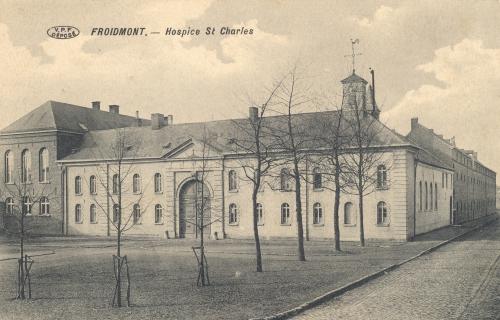 FROIDMONT - Hospice St Charles - V.P.F. déposé - Coordonnées GPS • Nord : 50 34 42 • Est : 3 19 40