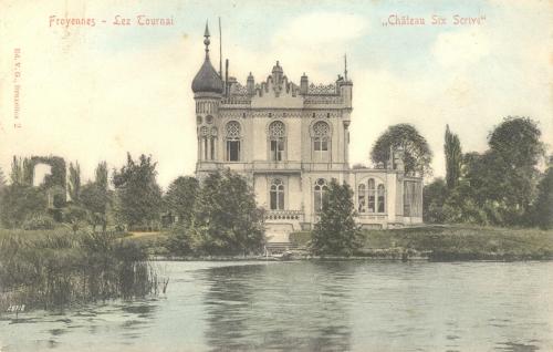 FROYENNES - Château Six-Scrive - Édit. V.G., Bruxelles 2 - Oblitération 7 2 1906 - Coordonnées GPS • Nord : 50 37 11 • Est : 3 21 51