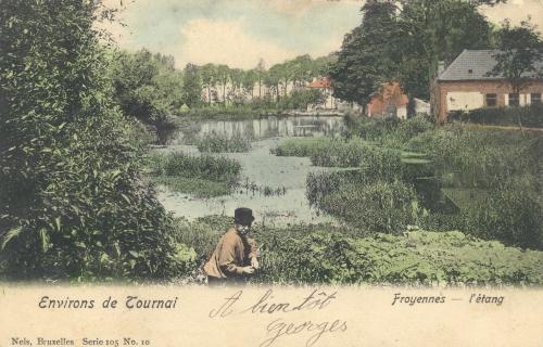 FROYENNES - L'étang - Édit. Nels, Bruxelles, Oblitération 19 2 1906 - Coordonnées GPS • Nord : 50 37 17 • Est : 3 21 19
