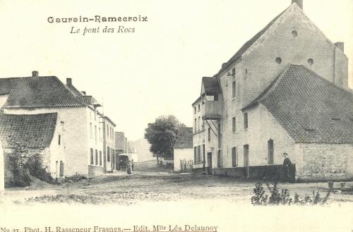 GAURAIN-RAMECROIX - Le Pont des Rocs - Phot. H. Rasseneur, Frasnes, édit. Léa Delaunoy - Oblitération 14 8 1907 - Coordonnées GPS • Nord : 50 35 48 • Est : 3 28 40