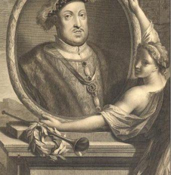 Henri VIII Gravure de Gérard Valck d'après un portrait à l'huile d'Adriaan Van der Werf. (collection personnelle)