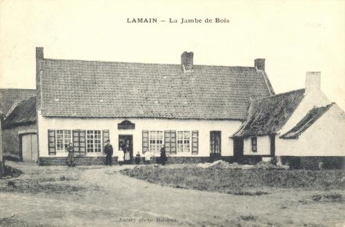 LAMAIN - ferme de le Jambe de bois - oblitération 17 9 1909 - GPS • Nord : 50 35 59 • Est : 3 16 33