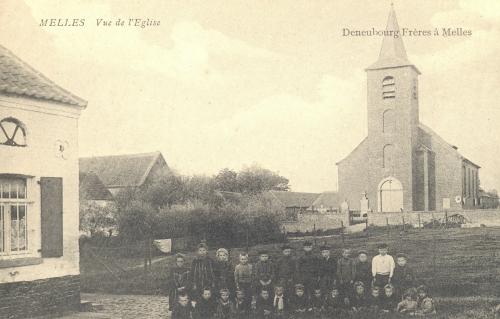 MELLES - l'église - Deneubourg frères à Melles - Coordonnées GPS • Nord : 50 38 49 • Est : 3 28 51