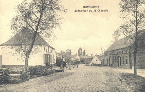 MOURCOURT - estaminet de la Chapelle - édit. M. Fourmeaux, Mourcourt - Coordonnées GPS • Nord : 50 39 23 • Est : 3 26 05