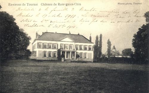 RAMEGNIES-CHIN - château - Phono-Photo Tournai - Coordonnées GPS • Nord : 50 38 60 • Est : 3 20 35