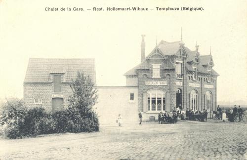 TEMPLEUVE - chalet de la Gare - oblitération 8 9 1908 - Coordonnées GPS • Nord : 50 38 57 • Est : 3 19 21
