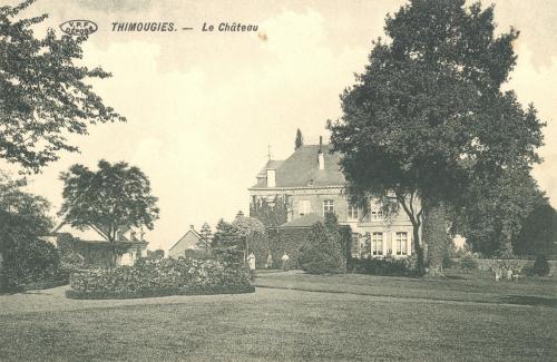 THIMOUGIES - le château - édit. Edmond Lory - Coordonnées GPS • Nord : 50 38 15 • Est : 3 31 23
