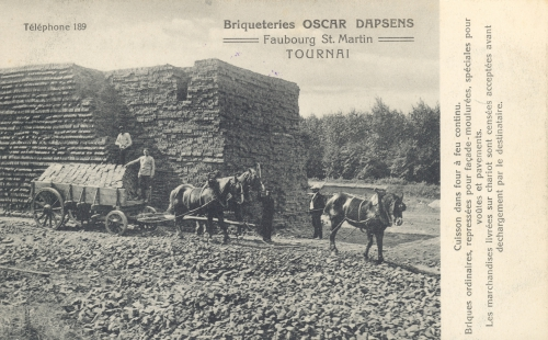 TOURNAI, faubourg Saint-Martin - briqueteries Oscar Dapsens - Phono-Photo Tournai