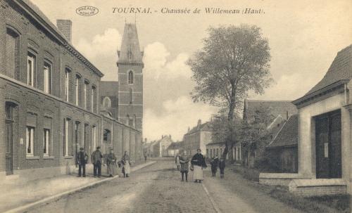 TOURNAI, faubourg Saint-Martin - chaussée de Willemeau - édit. Allard-Landrieu - Coordonnées GPS • Nord : 50 35 44 • Est : 3 22 43