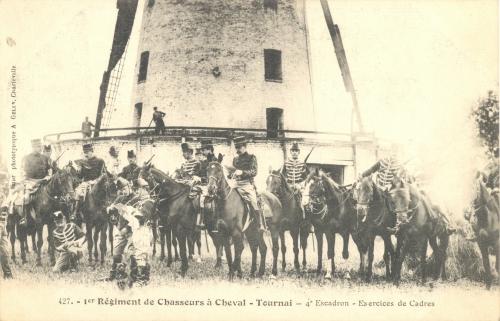 TOURNAI, faubourg de Lille - moulin Lagache - A. Gelin Charleville - oblitération 22 2 1907 - Coordonnées GPS • Nord : 50 36 40 • Est : 3 22 01