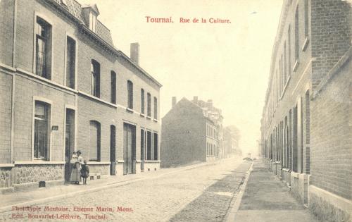 TOURNAI, faubourg de Lille - rue de la Culture - édit. Bonvarlet-Lefebvre, Tournai - Coordonnées GPS • Nord : 50 36 14 • Est : 3 22 16