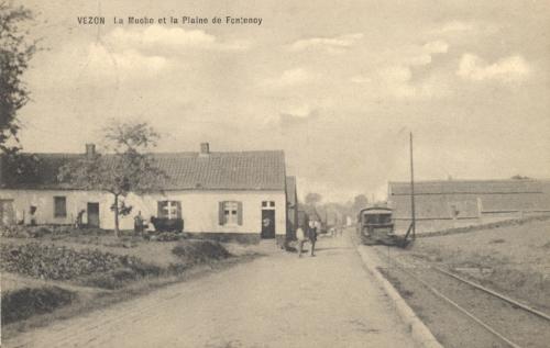 VEZON - Muche et plaine de Fontenoy - oblitération 8 3 1913 - Coordonnées GPS • Nord : 50 34 24 • Est : 3 29 39