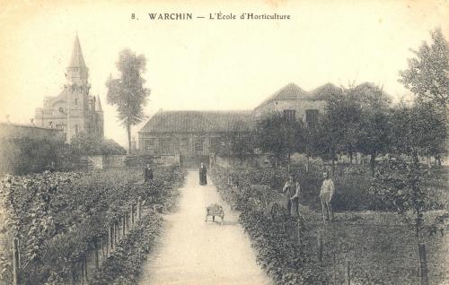 WARCHIN - école d'Horticulture - oblitération 2 1 1911 - Coordonnées GPS • Nord : 50 36 44 • Est : 3 25 13