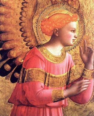 L'archange Gabriel peint par Fra Angelico